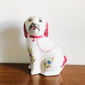 Vintage hand painted Portuguese staffordshire dog